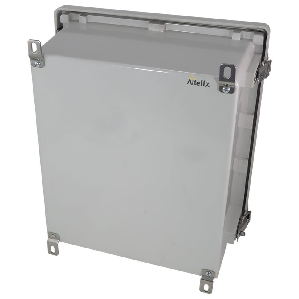 Altelix 14x12x6 NEMA 4x FRP Fiberglass Weatherproof Enclosure with Aluminum Equipment Mounting Plate, Hinged Lid & Stainless Steel Latches by Altelix (Image #5)