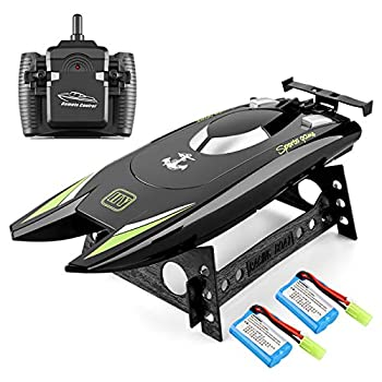 RC Boat 2.4Hz Distant Management Boats for Adults and Children 20+ MPH Excessive Pace Boat Ship Twin Motors Self-Righting Racing Boat Swimming pools and Lakes Toys for 3 4 5 6 7 8 12 months Outdated Boys Items (Black)