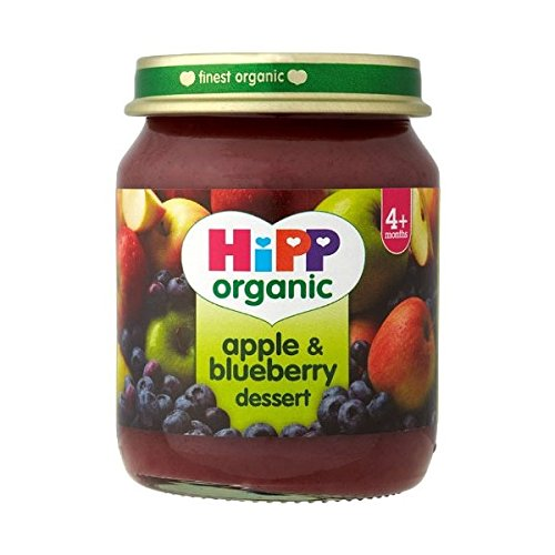 6 Pack of Hipp Apple & Blueberry Dessert 125 g