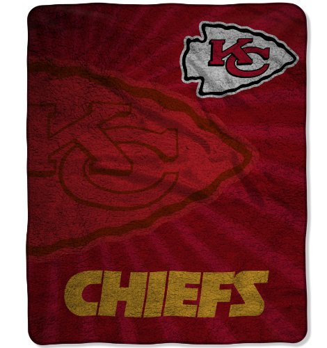 Chiefs City Comforter Kansas (The Northwest Company Officially Licensed NFL Kansas City Chiefs Strobe Sherpa on Sherpa Throw Blanket, 50