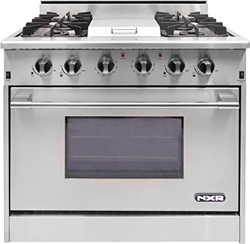 36 gas range with electric oven - 6