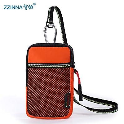 SunBao poche téléphone hommes portant une ceinture-mini bars, toile accrocher forfait single shoulder bags marée loisirs de la jeunesse, de l'orange