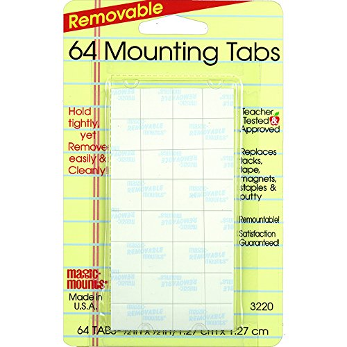 MILLER STUDIO MAGIC MOUNTS MOUNTING TABS 1/2X1/2 (Set of 50)