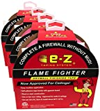 EZ Taping System Flame Fighter Drywall Fire Tape - 4-Pack - Self Adhesive 250' x 1.89''