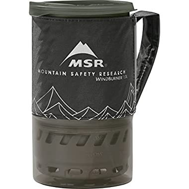 MSR WindBurner Personal Stove System with 1.0L, Black