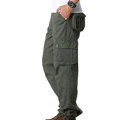 Sport Hose Herren FRAUIT Männer Taschen Einfarbig Hose