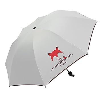 LJSHU Sombrilla con Tres Pliegues Paraguas De Protección Solar Sombrilla Sombrilla Compacta con Paraguas Plegable De