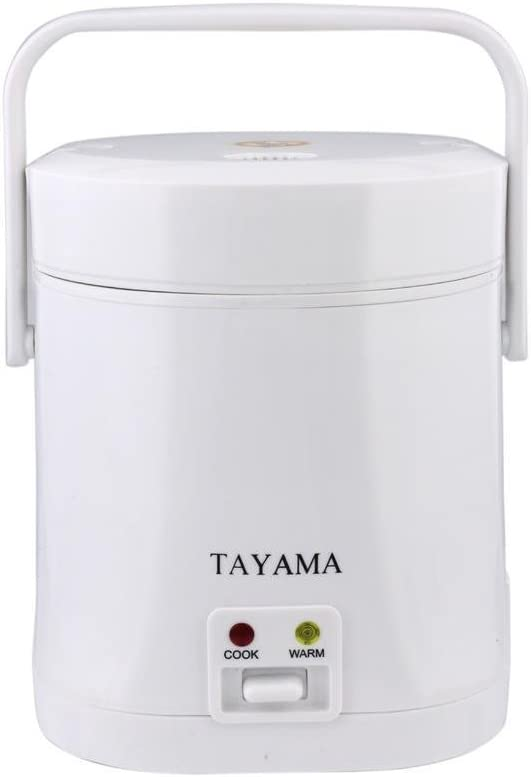 Tayama TMRC-03 1.5 Cup Portable Mini Rice Cooker, White