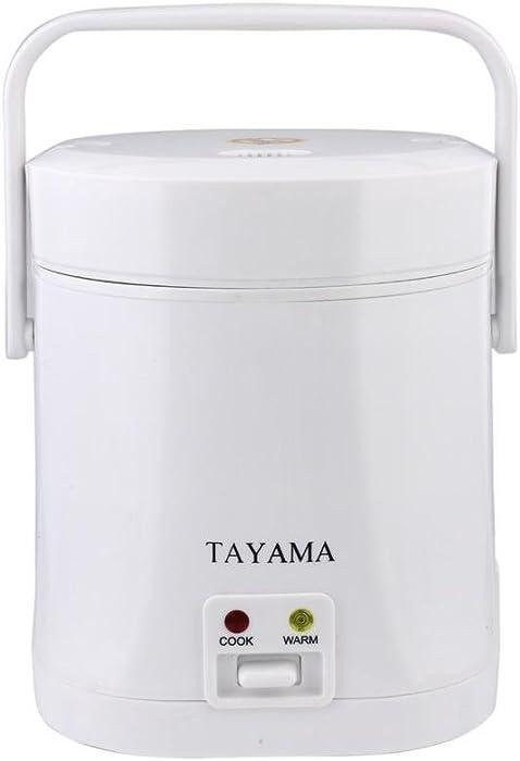 Tayama TMRC-03 1.5 Cup Portable Mini Rice Cooker, White
