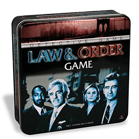 amazon com law and order game in a tin toys games