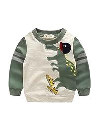 Boys' kids Long Sleeve T-Shirts Cartoon Dinosaur Sweatshirt Pullover