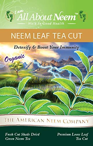 Neem Leaves Course Ground Tea Cut Organic 16 oz, Loose, Green, Wild Harvested, Slow Dried Under Shade. Make Your own Tea Bags & Neem Leaf Extract.