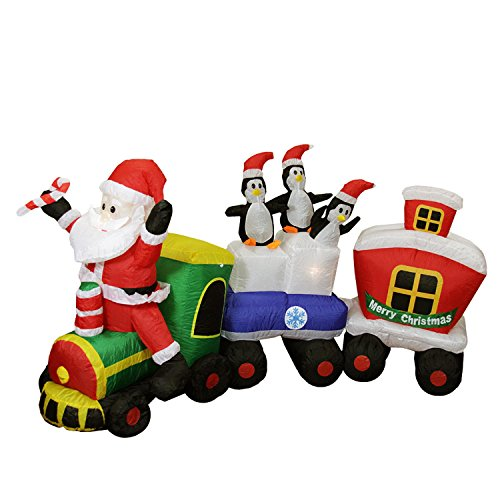 Outdoor Lighted Santa Train in US - 6