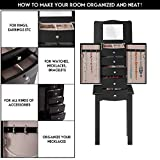 GOFLAME Jewelry Chest Armoire Cabinet Standing with