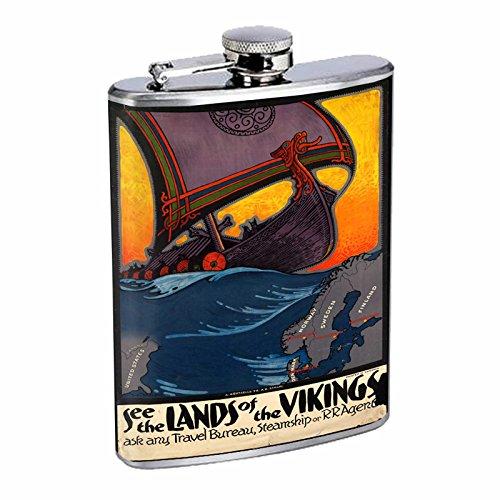 激安正規  Perfection of Inスタイルステンレススチールフラスコ8オンスビンテージポスターd-220 the See The Lands The of the Vikings B016B7JUD8, タカトリチョウ:3ac42a46 --- domaska.lt