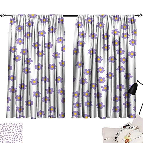 Hariiuet Living Room Curtains Small Colored Flowers on a White Background for Prints Postcards Greeting Cards Wedding Invitations Birthday Valentine s Day 72