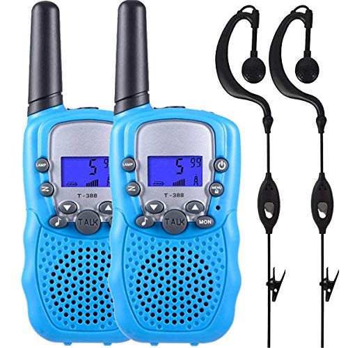 Conthfut Walkie Talkies for Kids Adults Two Way Radios Kids 3-12 Year Old Birthday Gift Toy with 2 X Earpiece Blue