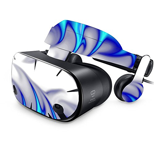 MightySkins Skin For Samsung Odyssey VR - Blue Fire   Protective, Durable, and Unique Vinyl Decal wrap cover   Easy To Apply, Remove, and Change Styles   Made in the USA by MightySkins