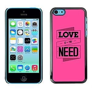 Rosa definición del amor - Metal de aluminio y de plástico duro Caja del teléfono - Negro - iPhone 5C