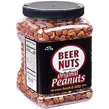BEER NUTS Original Peanuts - 41 oz Resealable Jar Sweet and Salty Gluten Free Kosher Low Sodium Snacks