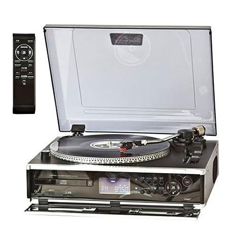 Lauson CL136NEGRO - Tocadiscos, grabación desde la radio, vinilo, CD: Amazon.es: Electrónica