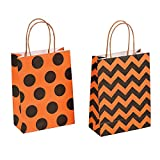 Arts & Crafts : Paper Halloween Craft Party Gift Bags - 12 pieces