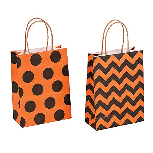 Paper Halloween Craft Party Gift Bags - 12 pieces