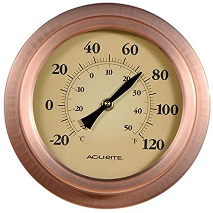 Amazon.com: AcuRite 02321 8-Inch Copper Porthole Thermometer: Home ...