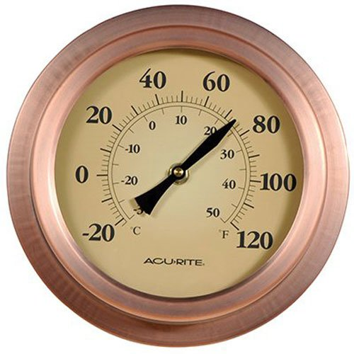 AcuRite 8 Inch Copper Porthole Thermometer