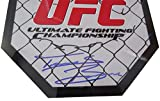 "Travis ""Happa"" Browne Autographed 8x8 UFC Octagon W/PROOF, Picture of Travis Signing For Us, UFC, MMA, Sherdog, Ultimate Fighting Championship, Heavyweight, Alistair Overeem"