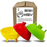 #7: KSEV Salsa Bowls, Plastic Mexican Molcajete Chips Guacamole, Serving Dish, Sauce Cup, Side dish, Snack, Chips, Dip, Nuts or Candy. Great to use at any event. (Multi-Color - 3 Pack)