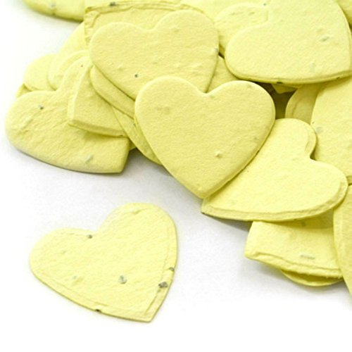 Heart Shaped Plantable Seed Confetti (Yellow) - 350 pieces/bag