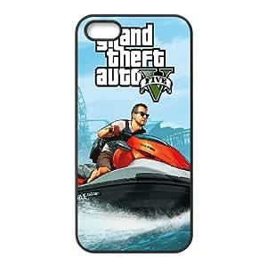 iPhone 5 5s Cell Phone Case Black GTA 5 - Michael On Jetski Ggigy