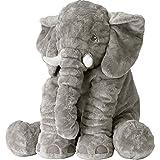 Tickos Stuffed Elephant Toy Plush Elephant Pillow Creative Animal Cushion Perfecct Home Decoration (Grey)