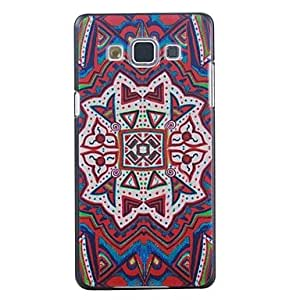 Red Pattern PC Hard Case for Samsung Galaxy A7