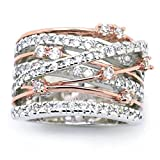 Sinwo Women Elegant Exquisite Diamond Cylindrical Rings Fine Ring Engagement Ring Gift (6, Rose Gold)