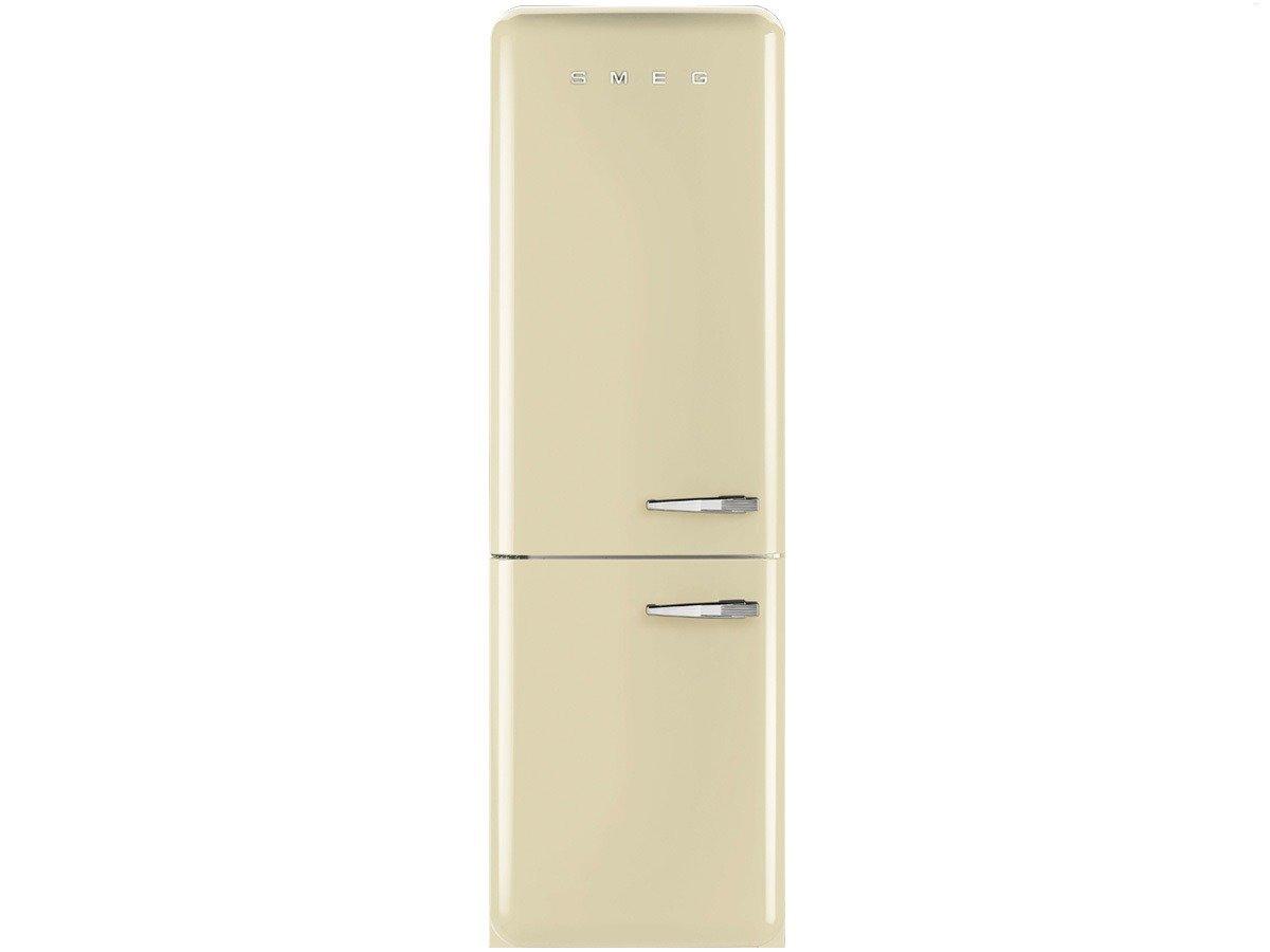 Amica Kühlschrank Linksanschlag : Smeg kühl gefrierkombination fab lpn creme linksanschlag a no