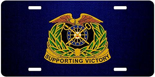 ExpressItBest Premium Aluminum License Plate - U.S. Army Quartermaster Corps, regimental insignia