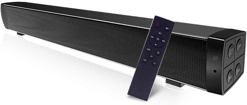 Bluetooth Sound Bar Wired and Wireless Home Theater TV Speaker Bar with  Remote Control,Goglor,TF Card- Surround Sound Bar for TV/PC/Phones/Tablets