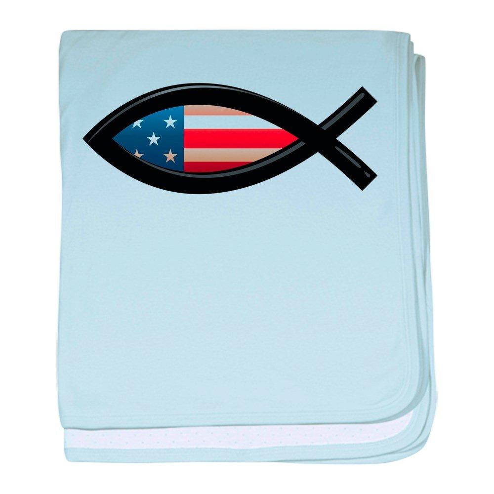 Royal Lion Baby Blanket US Christian Fish Ichthys - Sky Blue