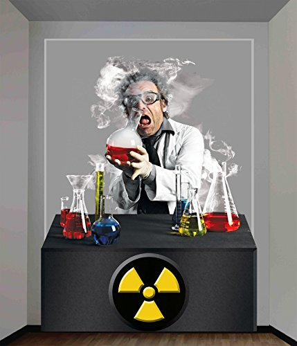 UHC Haunted House Mad Scientist Wall Covering Horror Party Halloween Decoration -