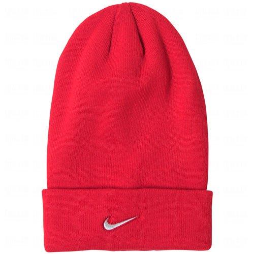 Nike Adult Unisex Stock Cuffed Knit Beanie (Red) (Beanie Nike Wool)