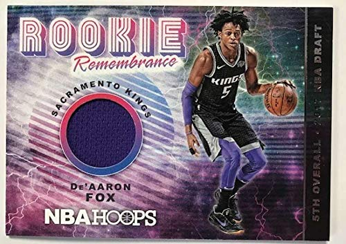2018-19 Panini Hoops Rookie Remembrance Basketball Card #47 De'Aaron Fox Sacramento Kings Official NBA Trading Card ()
