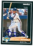 Autograph Warehouse 48360 Chris Donnels Autographed Baseball Card New York Mets 1992 Pinnacle No .168