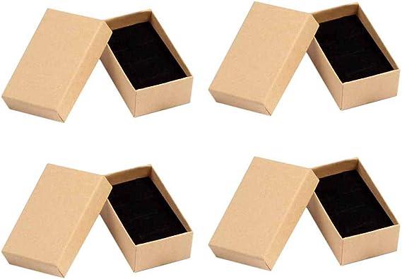 LIOOBO Caja de Almacenamiento de Anillo de Caja de Regalo Mini Caja de Regalo de Kraft para Regalo de graduación de la Fiesta de Navidad (5X8X3cm) 13pcs: Amazon.es: Joyería