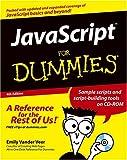 JavaScript for Dummies, Emily A. Vander Veer, 0764576593