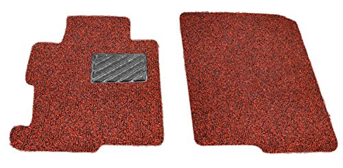 Custom Fit Heavy Duty Custom Fit Car Floor Mat for 2014-2018 Jaguar F-Type Coupe, All Weather Protector 2 Pieces Front Seat set (Red and Black) by AutoTech Zone