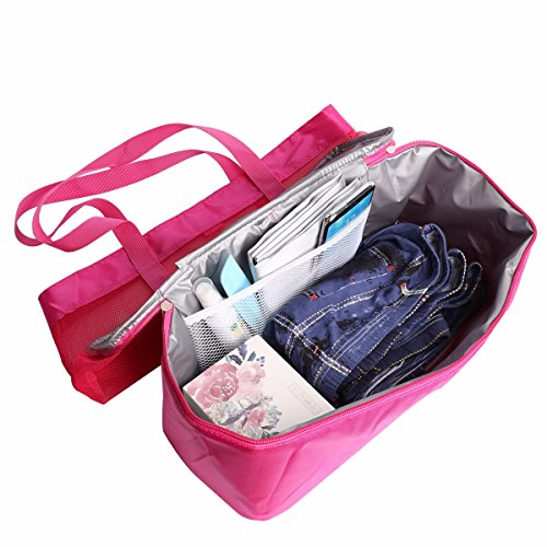Picnic Beach Rose Insulated Tote Extra iEFiEL Large Cooler Bag Detachable Mesh with zS7qxwZt