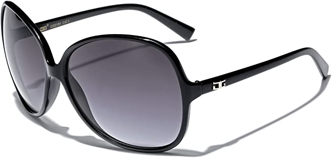 Womens Luxury Fashion Sunglasses Oversized Round Butterfly Frame