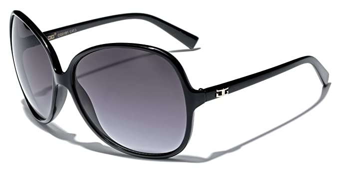 2475d76e574b Amazon.com  Oversized Frame Women s Round Butterfly Shape Sunglasses ...